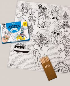 Coloriage Pocket Mini Atlas OMY