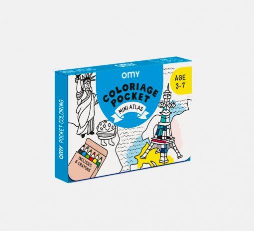 Coloriage Pocket Mini Atlas OMY