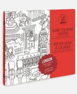 Poster à colorier Londres OMY