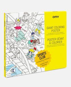 Poster à colorier Sport OMY