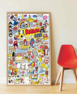 Poster géant + 85 stickers – 100% English
