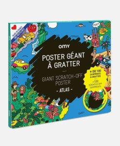 Poster à gratter Atlas OMY