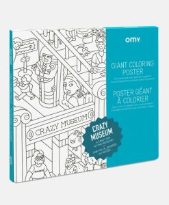 Poster à colorier Crazy Museum OMY