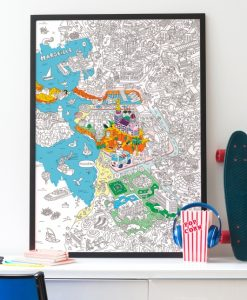 Poster à colorier Marseille OMY