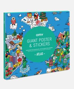 Poster à stickers Atlas OMY