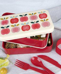 Grande boîte bento Pomme vintage