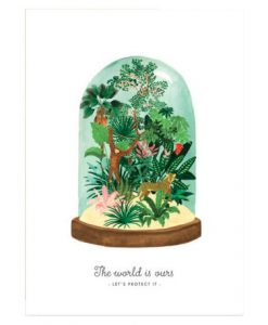 Affiche World to protect Terrarium All the Ways to Say