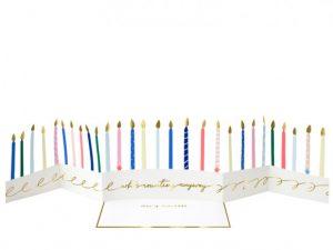 Carte anniversaire Bougies d'anniversaire Meri Meri