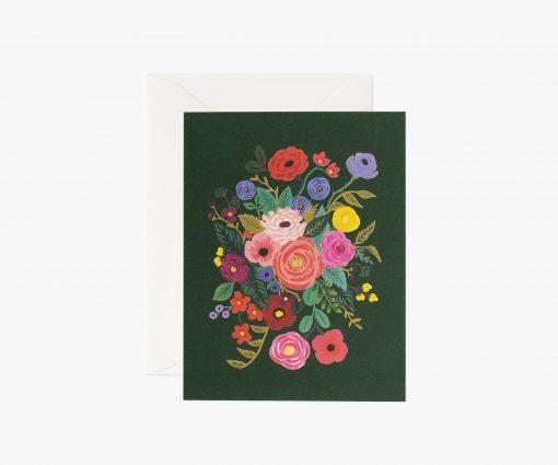 Carte florale Garden party Rifle Paper noir