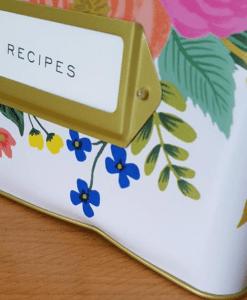 Boîte à recettes Rifle Paper Juliet rose BONNE AFFAIRE !