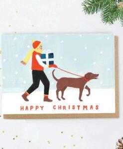 Carte de Noël Happy christmas Jade Fisher