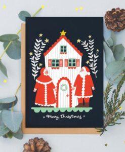 Carte de voeux Père Noël Jade Fisher