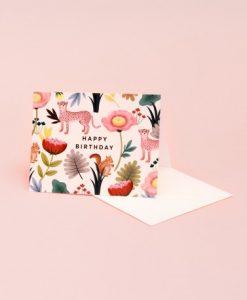 Carte anniversaire Animal Kingdom crème