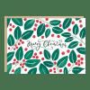 Carte Joyeux Noël Houx Jade Fisher