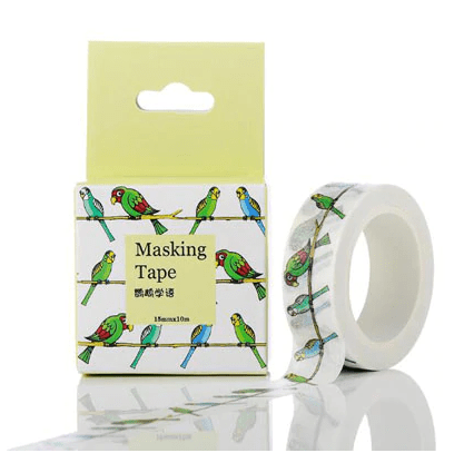 Masking Tape Perroquets