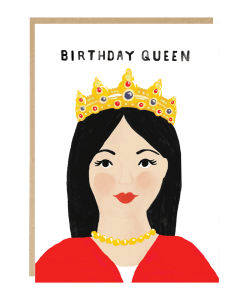 Carte anniversaire Birthday queen Jade Fisher
