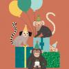 carte posatel enfant monkeys petit monkey