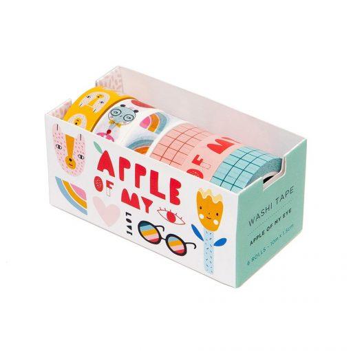 Set de 6 masking tapes Apple of my Eye