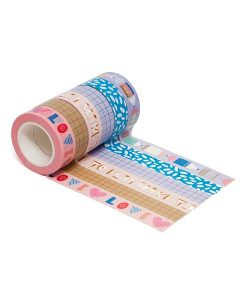 Set de 6 masking tapes Make time to play Petit Monkey