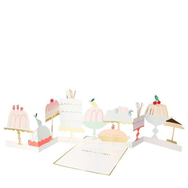 Carte Accordeon A Poser Gateaux D Anniversaire Pastel Shop