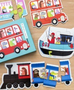 Coffret de 6 puzzles Transport