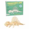 Puzzle 3D en bois - dinosaure Dimétrodon