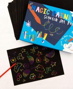 Kit Papier à Gratter Arc-en-Ciel