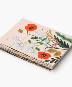 Carnet à spirales Rifle Paper Poppy Botanical