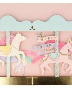Carte anniversaire à poser Carrousel Meri Meri