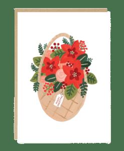 Carte Panier fleuri de Noël Jade Fisher
