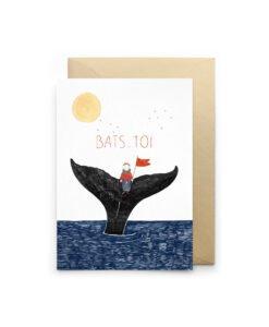 Carte à message Bats Toi Petit Gramme