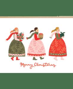 Carte de Noël Folk Russia Jade Fisher