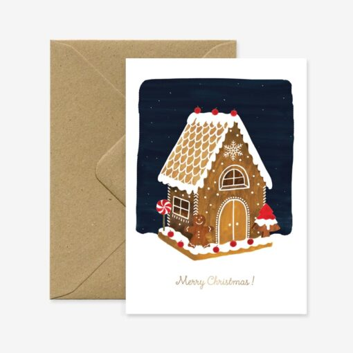 Carte de Noël Ginger Bread House All The Ways To Say
