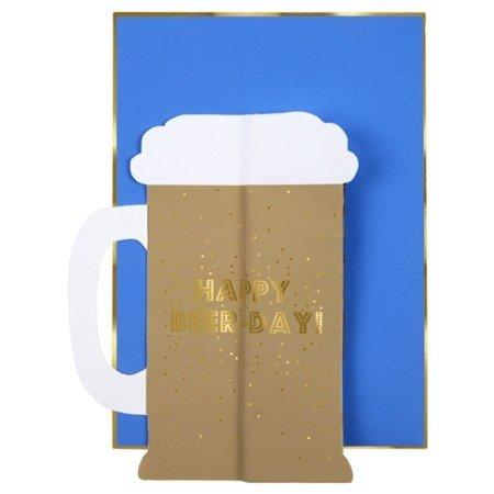 Carte anniversaire Pop up bière Meri Meri