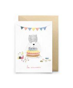 Carte Bon anniversaire Ours Petit Gramme