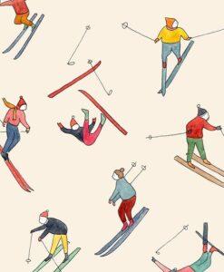 Carte à message Skieurs Petit Gramme
