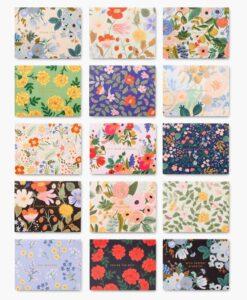 Coffret de 15 cartes Rifle Paper Floral Essentials