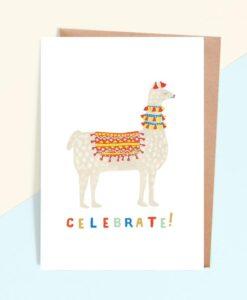 Carte Celebrate Lama Fiesta Jade Fisher