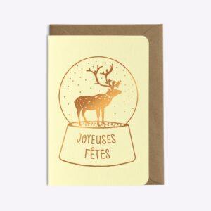 Carte Joyeuses Fêtes Les Editions du Paon