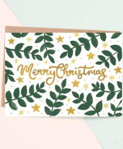 Carte Joyeux Noël Gold Jade Fisher