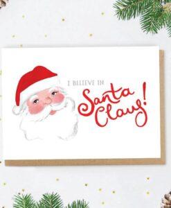 Carte de Noël Believe in Santa Claus Jade Fisher