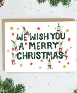 Carte de Noël Elfes Jade Fisher