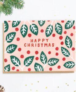 Carte de Noël Holly Jade Fisher