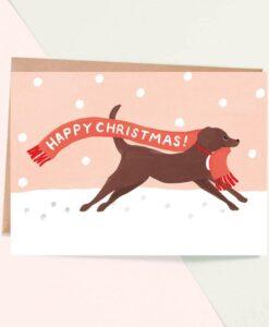 Carte de Noël Labrador Jade Fisher