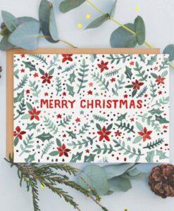 Carte de Noël poinsettia Jade Fisher
