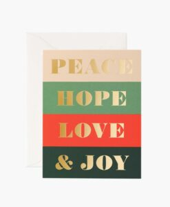 Carte Peace and Joy Rifle Paper