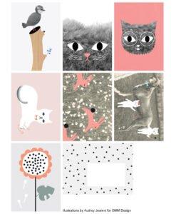Cartes For you Audrey Jeanne 7 cartes + enveloppes