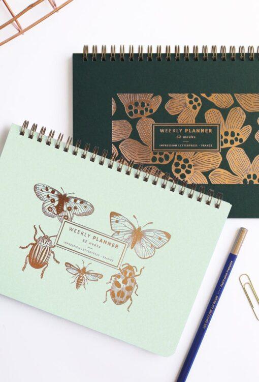 Semainier Papillons&Cie Les Editions du Paon