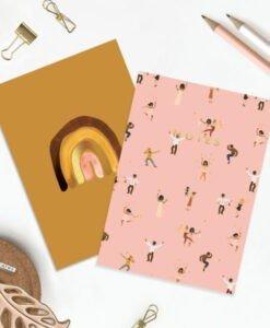 Carnets de poche Terracotta & Dancers- lot de 2