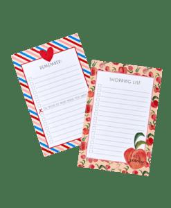 Bloc-notes Pêches & « Candy Stripes » – Au choix
